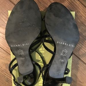 Gianni Bini Shoes - Black Patent Gianni Bini Strappy Sandals